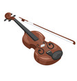 music instrument - violin vector image