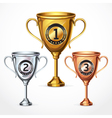 Numbers Trophy Cup Set vector image