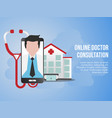 online doctor consultation concept design template vector image