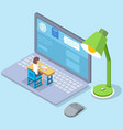 online education training or e-learning concept vector image vector image