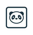 panda icon Rounded squares button vector image