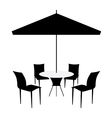 Patio set vector | Price: 1 Credit (USD $1)