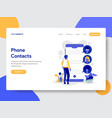 phone contacts vector image vector image
