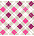 pink and purple argyle harlequin seamless pattern vector image vector image