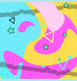 pop art color background memphis pattern