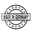 scratched textured made in germany stamp seal vector image