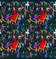 seamless pattern dancing people dancer bachata vector image vector image