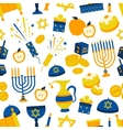 Seamless Pattern With Hanukkah Symbols vector image