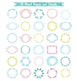 set of 30 hand drawn frames and laurels vector image vector image