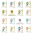 Set of map tag logo icons vector image