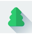 Simple Christmas tree icon in flat style vector image vector image