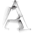 Sketch font Letter A vector image vector image