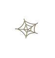 Spiderweb computer symbol vector image vector image