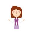 teacher woman vector image vector image