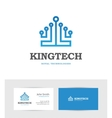 Technology logo looking like a king crown vector image