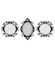 vintage mirror frames set collection of vector image vector image
