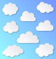 White blank clouds vector image vector image
