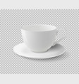 White ceramic cup realistic cup on