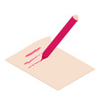 write felt-tip pen icon isometric 3d style vector image vector image