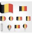 Belgium flag icon set vector image