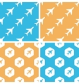 Plane pattern set colored vector image