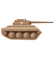 A brown military tank vector image vector image