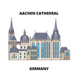 aachen cathedral germany line icon concept vector image vector image