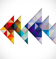 Abstract colorful modern polygon template vector image vector image