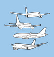 air plane flight vector image