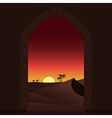 arabian sunset vector image