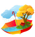 autumn icon vector image vector image