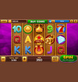 background for slots game vector image vector image