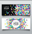 banners triangle geometric colorful collections vector image