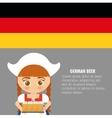 Beer Oktoberfest flag girl cartoon costume icon vector image vector image