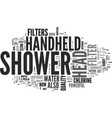 Best top rated handheld shower head text word vector image