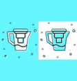 black line water jug with a filter icon isolated vector image vector image