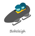 bobsleigh icon isometric style vector image