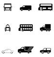 car icon set vector image vector image