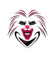 clown face image vector image