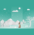 concept of love in winter season and valentines vector image vector image
