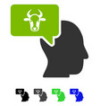 cow thinking person flat icon vector image