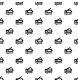 Credit card pattern simple style vector image vector image