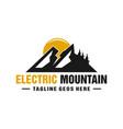 electric mountain logo design vector image