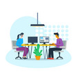 employees working in office vector image vector image
