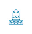 entering password linear icon concept entering vector image vector image