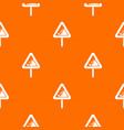 falling rocks warning traffic sign pattern vector image vector image