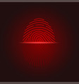 fingerprint scan icon vector image vector image