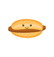 flat burger with chop and sesame icon vector image