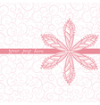 Floral greeting card with place for your text and vector image vector image