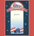fourth of july card vector image